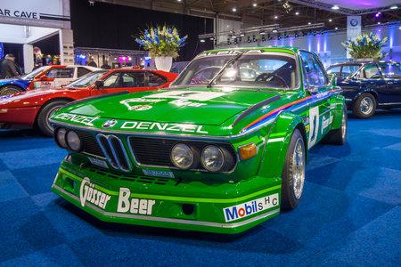 cs: MAASTRICHT, NETHERLANDS - JANUARY 14, 2016: Sports car BMW 3.0 CSL (BMW New Six CS), 1974. International Exhibition InterClassics & Topmobiel 2016 Editorial