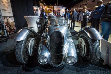 4 5: MAASTRICHT, NETHERLANDS - JANUARY 14, 2016: Racing car Lagonda 4,5 Litre Fox & Nicholl, 1938. International Exhibition InterClassics & Topmobiel 2016 Editorial
