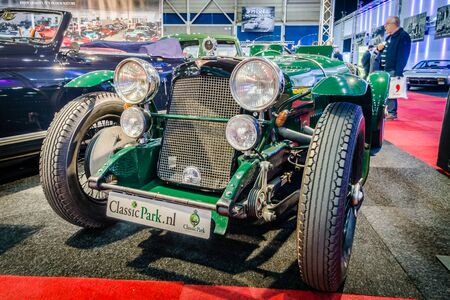 sg: MAASTRICHT, NETHERLANDS - JANUARY 14, 2016: Vintage car Alvis Silver Eagle SG 16.95, 1938. International Exhibition InterClassics & Topmobiel 2016