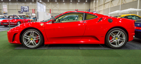 ferrari: MAASTRICHT, NETHERLANDS - JANUARY 15, 2016: Sports car Ferrari F430, 2006. International Exhibition InterClassics & Topmobiel 2016
