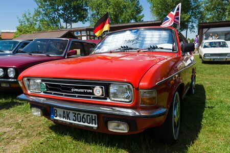allegro: PAAREN IM GLIEN, GERMANY - MAY 19: The Austin Allegro is a small family car manufactured by British Leyland under the Austin name from 1973 until 1982, The oldtimer show in MAFZ, May 19, 2013 in Paaren im Glien, Germany Editorial