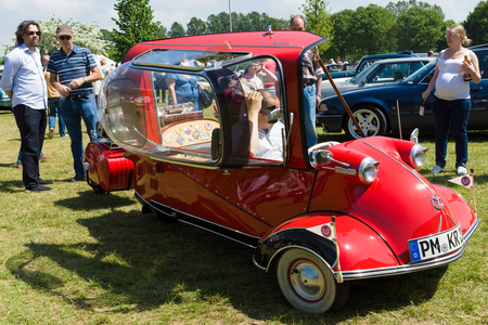 fend: The Messerschmitt KR200, or Kabinenroller (Cabin Scooter), was a three-wheeled bubble car designed by the aircraft engineer Fritz Fend and produced in the factory of the German aircraft manufacturer Messerschmitt from 1955 to 1964.