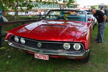 intermediate: PAAREN IM GLIEN, GERMANY - MAY 19: The Ford Torino was an intermediate automobile produced by the Ford Motor Company for the North American market between 1968 and 1976, The oldtimer show in MAFZ, May 19, 2013 in Paaren im Glien, Germany
