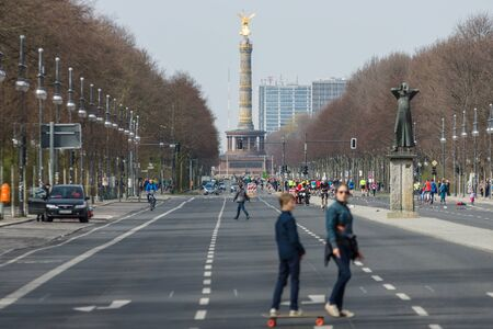 17th: BERLIN - APRIL 03, 2016: 17th of June Street, in the background Victory Column. Editorial