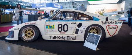 classics: STUTTGART, GERMANY - MARCH 17, 2016: Racing car Porsche 935 L1 Baby, 1980. Europes greatest classic car exhibition RETRO CLASSICS