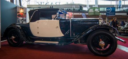 excelsior: STUTTGART, GERMANY - MARCH 17, 2016: Retro car Albert I Excelsior Cabriolet, 1927. Europes greatest classic car exhibition RETRO CLASSICS