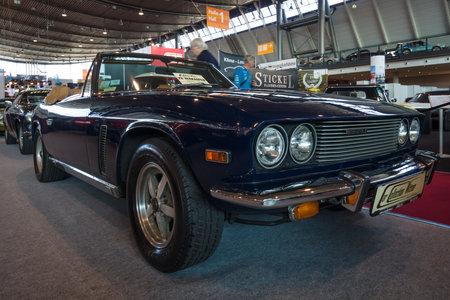classics: STUTTGART, GERMANY - MARCH 17, 2016: Grand tourer car Jensen Interceptor MkIII Convertible, 1974. Europes greatest classic car exhibition RETRO CLASSICS