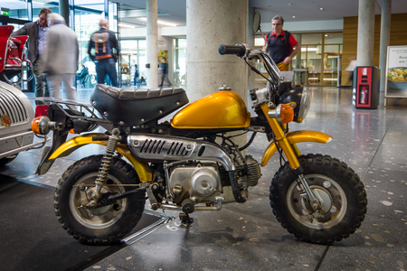 mini bike: STUTTGART, GERMANY - MARCH 17, 2016: Mini Bike Honda Z50J, 1973. Europes greatest classic car exhibition RETRO CLASSICS