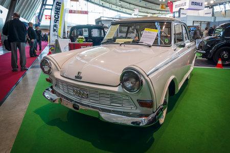 classics: STUTTGART, GERMANY - MARCH 17, 2016: Vintage car DKW Junior de Luxe, 1962. Europes greatest classic car exhibition RETRO CLASSICS Editorial