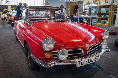 cc: STUTTGART, GERMANY - MARCH 17, 2016: Sports car NSU Spider Rally (498 cc Single rotor Wankel), 1967. Europes greatest classic car exhibition RETRO CLASSICS