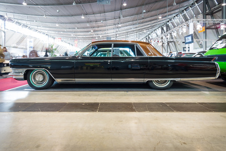 STUTTGART, GERMANY - MARCH 18, 2016: Full-size luxury car Cadillac Sixty Special, 1964. Europes greatest classic car exhibition RETRO CLASSICS