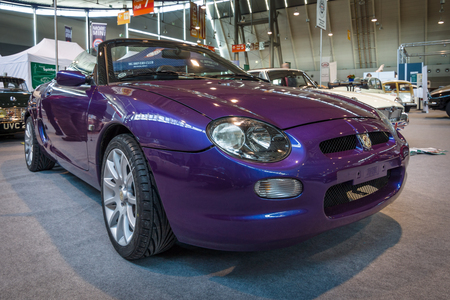 f 18: STUTTGART, GERMANY - MARCH 18, 2016: Roadster MG F Mark I. Europes greatest classic car exhibition RETRO CLASSICS