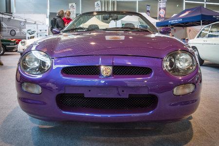 f 18: STUTTGART, GERMANY - MARCH 18, 2016: Roadster MG F Mark I. Europes greatest classic car exhibition RETRO CLASSICS