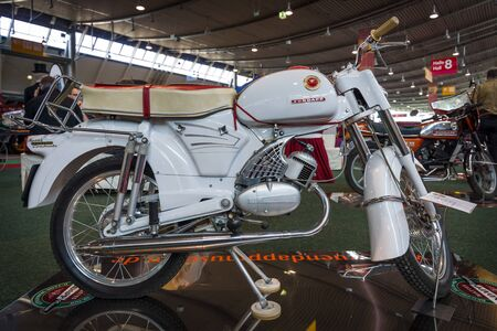 typ: STUTTGART, GERMANY - MARCH 18, 2016: Motorcycle Zuendapp Sport Combinette (Typ 515-004), 1964. Europes greatest classic car exhibition RETRO CLASSICS Editorial