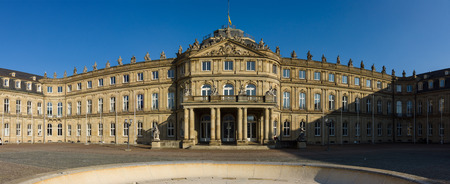 17th: Das Neues Schloss (New Castle). Palace of the 17th century in baroque style. Stuttgart. Germany Editorial