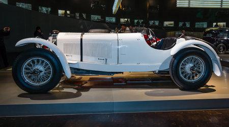 ps: STUTTGART, GERMANY- MARCH 19, 2016: Sports car Mercedes-Benz 27170225 PS SSK (Super-Sport-Kurz (DE) - Super Sport Short (EN)), 1928. Mercedes-Benz Museum. Editorial