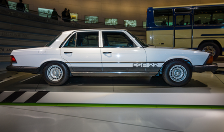 experimental: STUTTGART, GERMANY- MARCH 19, 2016: Mercedes-Benz Experimental Safety Vehicle ESF22, 1973. Mercedes-Benz Museum.