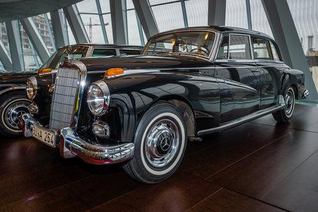 chancellor: STUTTGART, GERMANY- MARCH 19, 2016: Car of Chancellor Konrad Adenauer, Mercedes-Benz Type 300d (W189), 1959. Mercedes-Benz Museum. Editorial