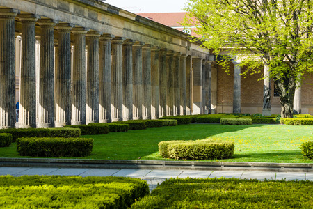 alte: The courtyard of the Alte Nationalgalerie (Old National Gallery). Berlin. Germany.