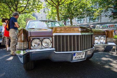 BERLIN - JUNE 05, 2016: Full-size luxury car Cadillac De Ville convertible, 1970. Classic Days Berlin 2016. Editorial