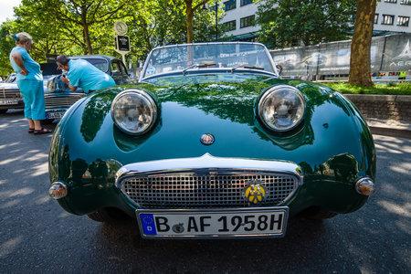 mk: BERLIN - JUNE 05, 2016: Sports car Austin-Healey Sprite Mk I, 1959. Classic Days Berlin 2016.