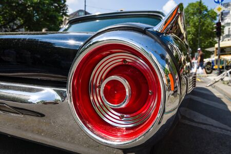 thunderbird: BERLIN - JUNE 05, 2016: Stoplight of a personal luxury car Ford Thunderbird (third generation). Close-up. Classic Days Berlin 2016.