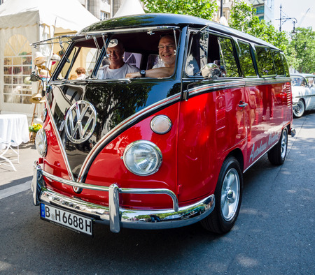 commercial vehicle: BERLIN - JUNE 05, 2016: Light commercial vehicle Volkswagen Type 2. Classic Days Berlin 2016.