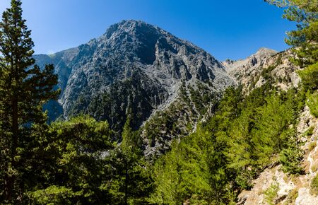 Samaria Gorge. The largest European gorge. Crete. Greece.