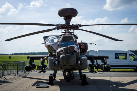 tigre: BERLIN, GERMANY - JUNE 03, 2016: Attack helicopter Airbus Helicopters Tiger. Exhibition ILA Berlin Air Show 2016