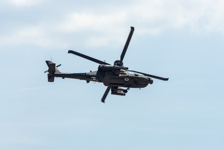 BERLIN, GERMANY - JUNE 03, 2016: Attack helicopter Airbus Helicopters Tiger. German Army. Exhibition ILA Berlin Air Show 2016