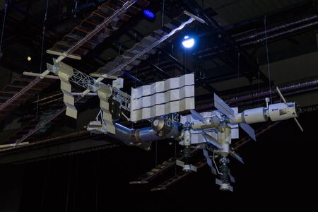 habitable: BERLIN, GERMANY - JUNE 03, 2016: Model of the International Space Station (ISS). Exhibition ILA Berlin Air Show 2016 Editorial