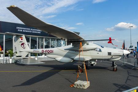 prototype: BERLIN, GERMANY - JUNE 03, 2016: The German reconnaissance aircraft Stemme Q01-100 (prototype). Exhibition ILA Berlin Air Show 2016