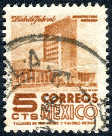 pedagogical: MEXICO - CIRCA 1950: Postage stamp printed in Mexico, shows a modern building of pedagogical institute in Mexico City, circa 1950 Editorial