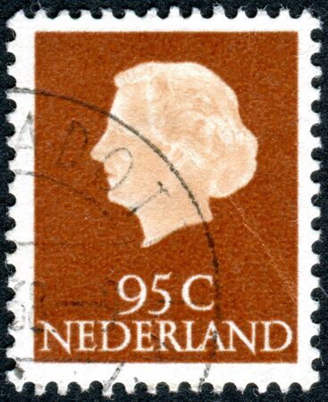 wilhelmina: NETHERLANDS - CIRCA 1967: Postage stamp printed in the Netherlands, shows Queen Juliana, circa 1967 Editorial