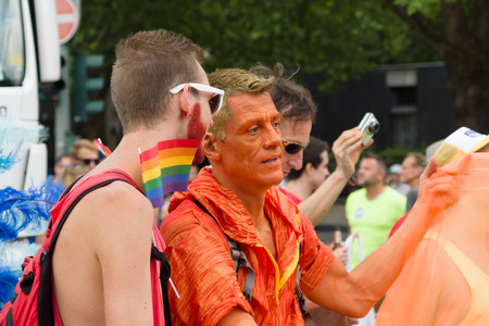 BERLIN, GERMANY - JUNE 22, 2013: Christopher Street Day. The annual European LGBT celebration and demonstration for the rights of LGBT people. Editorial