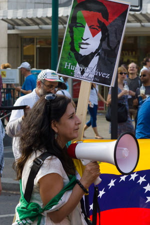 hafez: BERLIN, GERMANY - AUGUST 03, 2013: International Quds Day. Demonstrators on the Kurfuerstendamm. Editorial
