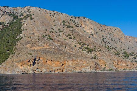 greece shoreline: Mountains of southern coast of Crete.