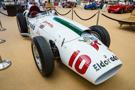 STUTTGART, GERMANY - MARCH 02, 2017: Racing car Maserati 420M Eldorado, 1958. Europes greatest classic car exhibition RETRO CLASSICS Editorial