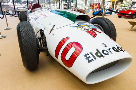 monza: STUTTGART, GERMANY - MARCH 02, 2017: Racing car Maserati 420M Eldorado, 1958. Europes greatest classic car exhibition RETRO CLASSICS Editorial