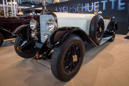 STUTTGART, GERMANY - MARCH 02, 2017: Full-size luxury car Mercedes-Benz Typ 630K Supercharged Short-Chassis, 1926. Europes greatest classic car exhibition RETRO CLASSICS