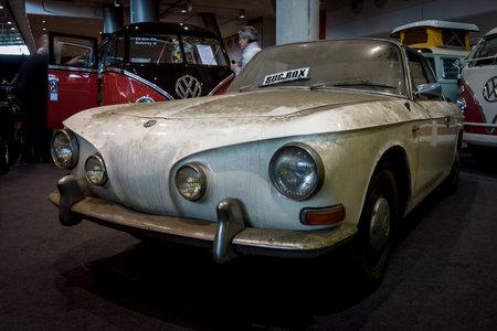 STUTTGART, GERMANY - MARCH 02, 2017: Sports car Volkswagen Karmann Ghia, Typ 34. Europes greatest classic car exhibition RETRO CLASSICS