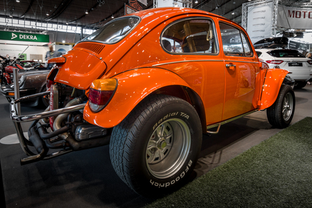 STUTTGART, GERMANY - MARCH 02, 2017: Buggy Volkswagen Beetle (Hazard Baja), 1970. Europes greatest classic car exhibition RETRO CLASSICS Editorial