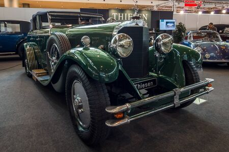 coachwork: STUTTGART, GERMANY - MARCH 02, 2017: Luxury car Mercedes-Benz 630K La Baule Transformable, 1928. Europes greatest classic car exhibition RETRO CLASSICS