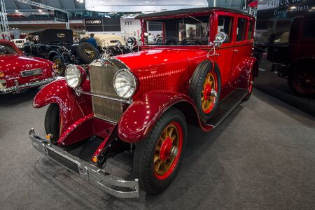 STUTTGART, GERMANY - MARCH 02, 2017: Luxury car Mercedes-Benz 300 Typ 1255 PS, 1926. Europes greatest classic car exhibition RETRO CLASSICS Editorial