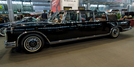 STUTTGART, GERMANY - MARCH 02, 2017: Full-size luxury car Mercedes-Benz 600 Landaulet (W100). Europes greatest classic car exhibition RETRO CLASSICS