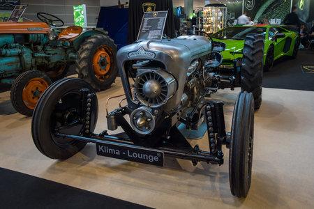 STUTTGART, GERMANY - MARCH 02, 2017: Tractor Lamborghini, 1965. Europes greatest classic car exhibition RETRO CLASSICS Editorial