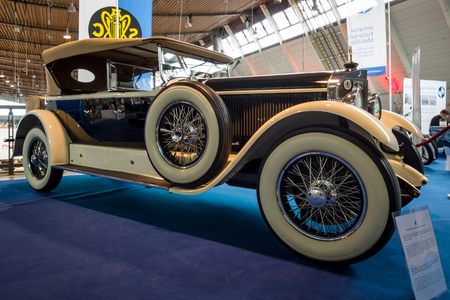 STUTTGART, GERMANY - MARCH 02, 2017: Luxury car Mercedes-Benz 24100140 PS Fleetwood D  USA, 1924. Europes greatest classic car exhibition RETRO CLASSICS