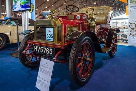 STUTTGART, GERMANY - MARCH 02, 2017: Vintage car Swift 7 HP Two-Seater Tourer, 1904. Europes greatest classic car exhibition RETRO CLASSICS Editorial