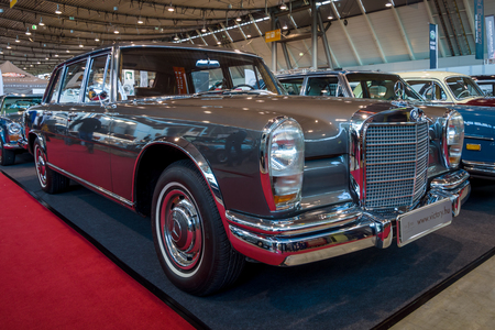 STUTTGART, GERMANY - MARCH 02, 2017: Full-size luxury car Mercedes-Benz 600 (W100), 1965. Europes greatest classic car exhibition RETRO CLASSICS