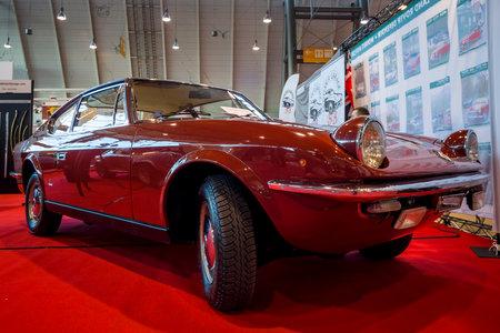 STUTTGART, GERMANY - MARCH 02, 2017: Vintage car Fiat 125S Samantha by Carrozzeria Vignale, 1969. Europes greatest classic car exhibition RETRO CLASSICS Editorial